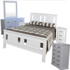 JINDABYNE DOUBLE OR QUEEN  6 PIECE (THE LOT)  BEDROOM SUITE WITH DOONA FOOT BED  - WHITE