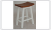 LATSON  2 - TONED WOODEN BAR STOOL / KITCHEN BENCH (BR067WD) - SEAT: 670(H) - WHITE / CARAMEL