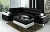TORRENFIELD  (L6001B)  CORNER LOUNGE SUITE WITH COFFEE TABLE - CHOICE OF LEATHER AND ASSORTED COLOURS AVAILABLE