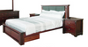 KING  FABULOS  BED  ( MODEL-16-9-14-14-1-3-12-5 ) - HAZELNUT