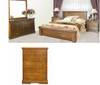 DONSILIA KING  6  PIECE (THE LOT) BEDROOM SUITE  ( MODEL- 11-1-11-1-4-21 ) - RUSTIC