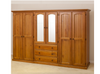 NIMERA (LOCAL MAKE) 4 PIECE WARDROBE WITH 6 DOORS & 3 DRAWERS CL - 1840(H) x 2400(W)  - ASSORTED COLOUR