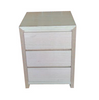 MORGAN KING  3 PIECE  BEDSIDE BEDROOM SUITE WITH TASSIE OAK & VENEER COMBINATION -  ASSORTED COLOURS