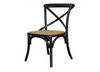 ORLEANS DINING CHAIR - WORN BLACK