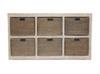RATTAN   6  DRAWER HORIZONTAL CABINET  600(H)   x  1250(W)   -  BEIGE WASH