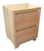 SIENNA BEDSIDE - TASSIE OAK COMBINATION - ASSORTED TIMBER COLOURS