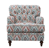 PARIS 3S + 2S  + ARM CHAIR FABRIC LOUNGE SUITE - (MODEL - 6-12-15-18-9-4-1) AS PICTURED