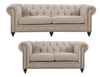 SOLOMONIA   3S + 2S UPHOLSTERED    FABRIC LOUNGE SUITE - (MODEL - 3-8-5-18-19-5-18-6-9-5-12-4) - AS PICTURED