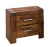 PHILLIPE 2 DRAWERS BEDSIDE TABLE    -  ACACIA
