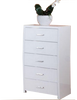 MELINDA  KING  6 PIECE THE LOT BEDROOM SUITE  -  (MODEL 13-15-19-13-1-14)  - HIGH GLOSS WHITE