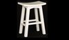 LATSON WOODEN BAR STOOL / KITCHEN BENCH (BR077WD) - SEAT: 770(H) - WHITE