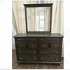 RUDEN   KING    6 PIECE  (THE LOT)  BEDROOM SUIT  (8221) BED WITH 2 FOOTEND DRAWERS  (MODEL - 7-5-15-18-7-9-1) -BURNISHED CHERRY