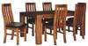 EMILY 7 PIECE  ACACIA HARDWOOD /LEATHERETTE DINING  SETTING 1800(W) X 1050(D)