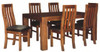 EMILY 9 PIECE  ACACIA HARDWOOD /LEATHERETTE DINING  SETTING WITH 2100(W) X 1050(D) TABLE