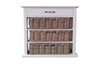 KUBU 3 STORAGE BASKET WITH 1X  WOODEN DRAWER  CABINET  - KUBU GREY