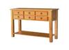 DEEONE  SOFA TABLE WITH SIX DRAWERS / SQUARE LEGS  900(H) X 1200(L) X  400(W) - WALNUT OR BLACKWOOD