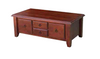 DEEONE  COFFE TABLE WITH FOUR DRAWERS / TAPERED  LEGS -440(H) X 1200(W) x  630(D)- WALNUT OR BLACKWOOD