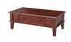 DEEONE  COFFE TABLE WITH DRAWER / TAPERED  LEGS -440(H) X 1200(W) - WALNUT OR BLACKWOOD