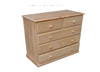 "A 36 ""  5 DRAWERS TOP SPLIT CHEST  920(H) - STAINED"