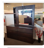 DALOON  QUEEN 6 PIECE (THE LOT) BEDROOM SUITE- WITH SIDE STORAGE DRAWER (MODEL 4-1- 22-9-14-3-9) - WALNUT