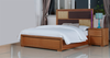 DUAS (614) QUEEN 3 PIECE BEDSIDE BEDROOM SUITE WITH  LED LIGHTS ON BEDHEAD  (MODEL 1-21-4-18-5-25) - MAPLE