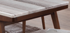 CLAUDE (9006) MARBLE DINING TABLE ONLY 1800(W) X 1000(D) - (MODEL-19-9-3-9-12-25) - WALNUT