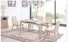 COMBO (9015)  EXTENDABLE DINING  TABLE 1200 - 1450(W) X 800(D)  - (MODEL-2-112-12-1) - KHAKI / WHITE