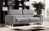 BULOND TWO  (2)  SEATER   FABRIC   LOUNGE SUITE - (MODEL-2-18-21-20-20-5-12-20)- LIGHT GREY