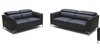 AMEN    3 +   2 SEATER   FULL LEATHER  LOUNGE SUITE  - - (MODEL13-9-12-1-14) GREY