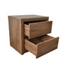 ALICIA QUEEN 3 PIECE BEDSIDE BEDROOM SUITE  - WITH BAILEE/CASEY CASEGOODS - ANTIQUE OAK
