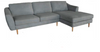 DOWNTOWN 2 SEATER LOUNGE WITH RIGHT HAND FACING CHAISE - ASSORTED COLOURS