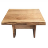 ARGYLE  HARDWOOD LAMP  TABLE  700(W) - NATURAL FINISH