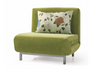 OPAL (MODEL-3078) 1 SEATER FABRIC CLICK CLACK SOFA BED - ASSORTED COLOURS