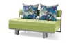 CHARLES II  (MODEL-6003) FABRIC CLICK CLACK SOFA BED -1530(W)  - ASSORTED COLOURS
