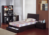 JIGSAW (M-24)  KING SINGLE 3  PIECE (TALLBOY) BEDROOM SUITE -  WALNUT