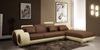 ADELE LEATHERETTE 3 SEATER + LHS/RHS CHAISE - AS PICTURED