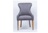 ERWIN (GKM-8) SINGLE SEATER SOFA CHAIR - BROWN WITH DIAMOND PATTERN