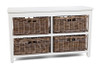 KUBU GREY  STORAGE  (KGS700) WITH 4 BASKETS - KUBU GREY / WHITE