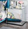 DURANGO  KING 3 PIECE BEDSIDE BEDROOM SUITE WITH MATCHING CASE GOODS  - WHITE /  MIRROR