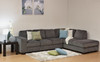 CLARENCE 3 SEATER CHAISE SUITE WITH DOUBLE PULL OUT SOFA BED (RHF OR LHS) - ASSORTED COLOURS