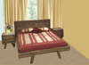 SUSAN  QUEEN 3   PIECE BEDSIDE BEDROOM SUITE  - ASSORTED COLOURS AVAILABLE
