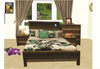 COASTAL  QUEEN 3   PIECE BEDSIDE BEDROOM SUITE  WITH BOOKEND BEDHEAD - COLOUR AS PICTURED