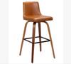 MATERA LEATHERETTE  BARSTOOLS - SEAT:710(H) - WALNUT