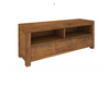 ALPINE SOLID TIMBER  ENTERTAINMENT 3 DRAWERS & 2 NICHES - 1750(W)  x 480(D) - GOLDEN WALNUT
