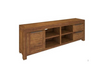 ALPINE SOLID TIMBER  ENTERTAINMENT  UNIT 1 DOOR 2 DRAWERS 2170(W) x 480(D) - GOLDEN WALNUT