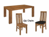 ALPINE  7 PIECE   DINING SETTINGS  - WITH 1800(L) X 1000(W) TABLE  - GOLDEN WALNUT