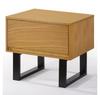 KAREL BEDSIDE TABLE WITH DRAWER - OAK + BLACK