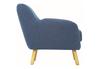 WAGON  FABRIC LOUNGE CHAIR - SEAT: 470(H) - MIDNIGHT BLUE