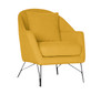 SIMBA ACCENT FABRIC CHAIR WITH METAL LEG -  YELLOW