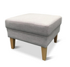HARLOW HIGH BACK CHAIR WITH OTTOMAN - GREY